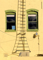Ladder between windows