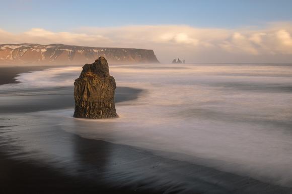 Dyrholaey sea stacks
