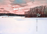 Winter at the 18th green