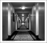 Long hallway (B&W version)