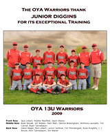 OYA 13U Warriors appreciation version