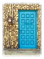 Blue green door