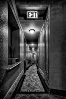 Narrow exit hall (B&W version)