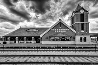 Tinley Park Train Depot (B&W version)