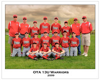 OYA 13U Warriors 8x10 titled