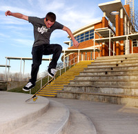 Skateboarding at Village Hall