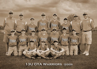 13U OYA Warriors (2009): 5x7 Sepia w/Title