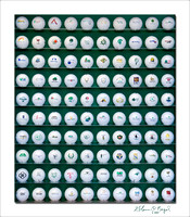 A hundred golf balls