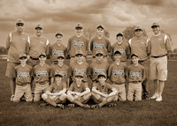 13U OYA Warriors (2009): 5x7 Sepia Version