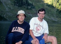 Brothers at Hoh Lake