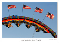 Underneath the flags
