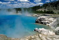 Steaming lake of turquoise