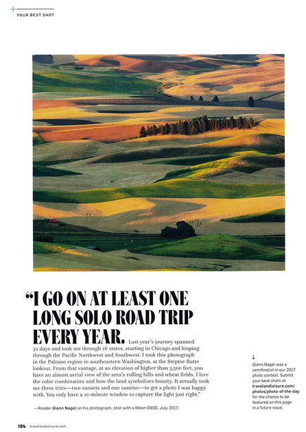 Palouse in Travel & Leisure magazine