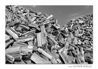 Mountain of firewood