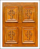 Door panel crosses