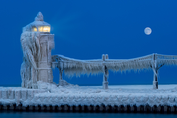 Frozen lighthouse
