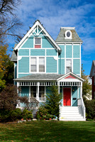 Powder blue house